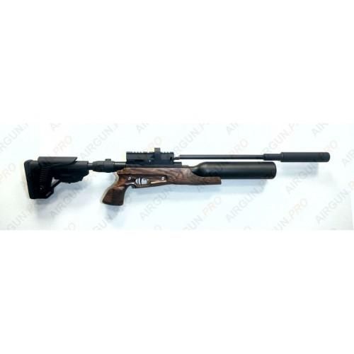 Пневматическая винтовка Егерь ( Jaeger РОК)  6.35 SP складной карабин колба 0,45/300 LW 550 мм. полигонал прямоток