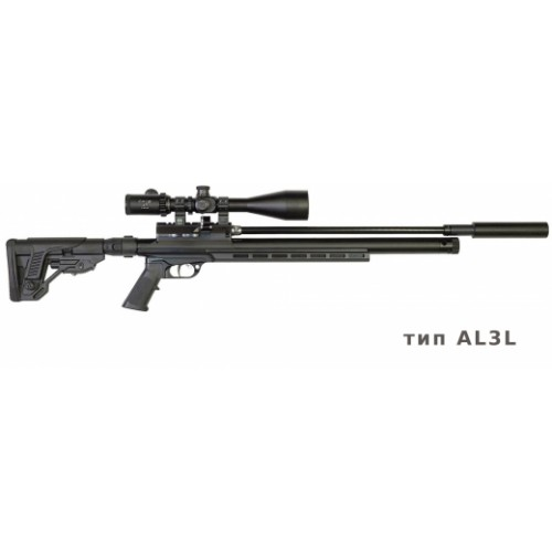 Пневматическая винтовка Егерь ( Jaeger РОК)  6.35 SP тактика карабин алюминий L3, ствол LW 550 мм. полигонал