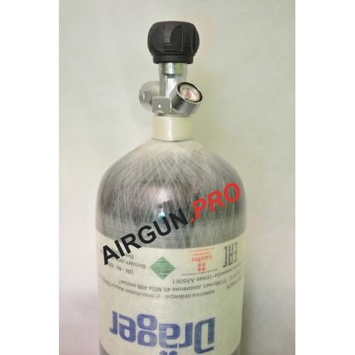 Баллон высокого давления Luxfer 6.8 литра (вентиль с манометром)