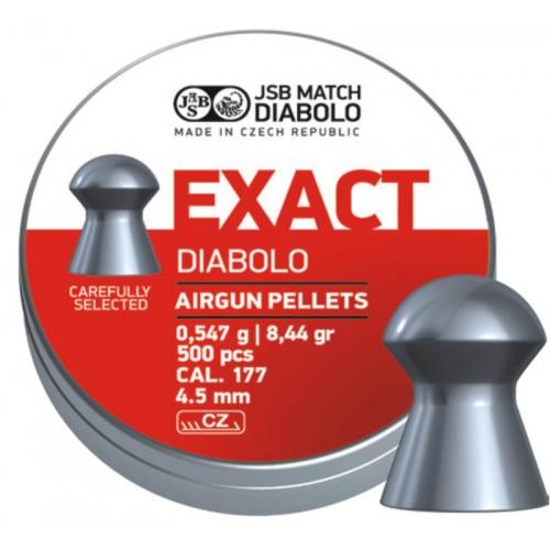 Пули JSB Diabolo EXACT cal .177 (4.52мм) 0.54 гр (500шт.)