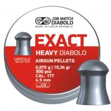 Пули JSB Diabolo EXACT HEAVY cal .177 (4.52мм) 0.67 гр (500шт.)