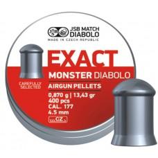 Пули JSB Diabolo EXACT MONSTER cal .177 (4.52мм) 0.87 гр (400шт.)