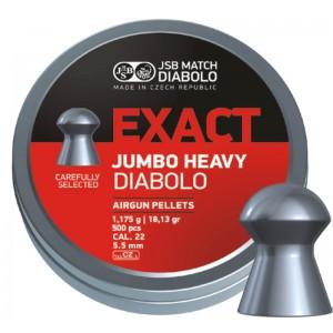 Пули JSB Diabolo JUMBO EXACT HEAVY cal .22(5.52мм) 1.175г.(500шт.)