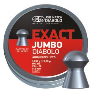 Пули JSB Diabolo JUMBO EXACT cal .22 (5.52мм) 1.03г.(500шт.)