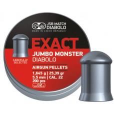 Пули JSB Diabolo EXACT MONSTER cal .22 (5.52мм) 1.645 гр. (200шт.)