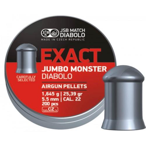 Пули JSB Diabolo EXACT MONSTER cal .22(5.52мм) 1.645г. (200шт.)