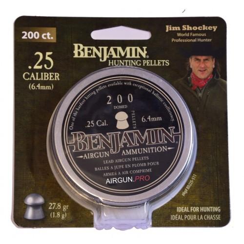 Пули Benjamin Domed  .25 cal (6.35мм) 1.8 гр. (200шт.)