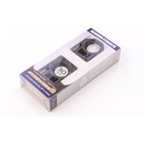Кольца быстрозажимные Leapers 30мм на вивер, высокий профиль 4 винта RG2W3224