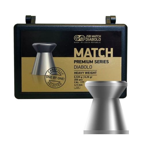 Пули JSB Match Premium Heavy .177 (4.50мм) 0.535 гр (200шт.)