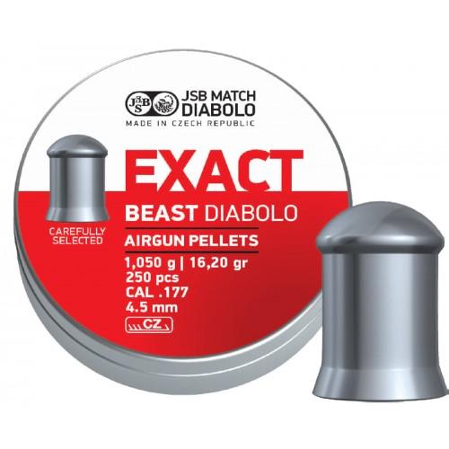 Пули JSB Diabolo EXACT BEAST cal .177 (4.52мм) 1.05 гр (250шт.)