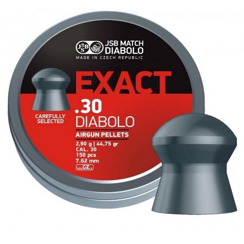 Пули JSB Diabolo Exact cal .30 (7.62мм) 3.2 гр. (150шт.)