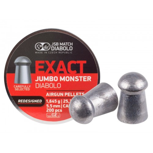 Пули JSB Diabolo EXACT MONSTER REDESIGNED cal .22(5.52мм) 1.645г. (200шт.)