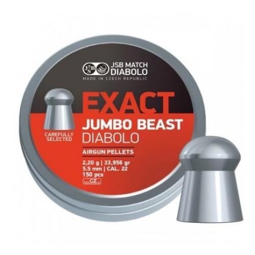 Пули JSB Diabolo EXACT BEAST cal .22 (5.52мм) 2.2 гр. (150шт.)